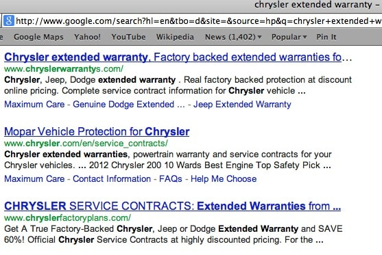 Chrysler Extended Warranty Does It Even Exist