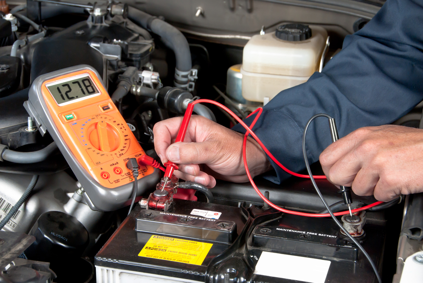 Checking car battery and alternator