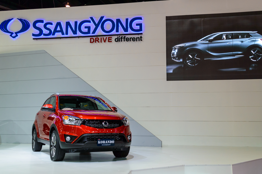 Ssangyong KORANDO at The 35th Bangkok International Motor Show - [Beauty in the Drive] on March 27, 2014 in Bangkok, Thailand.