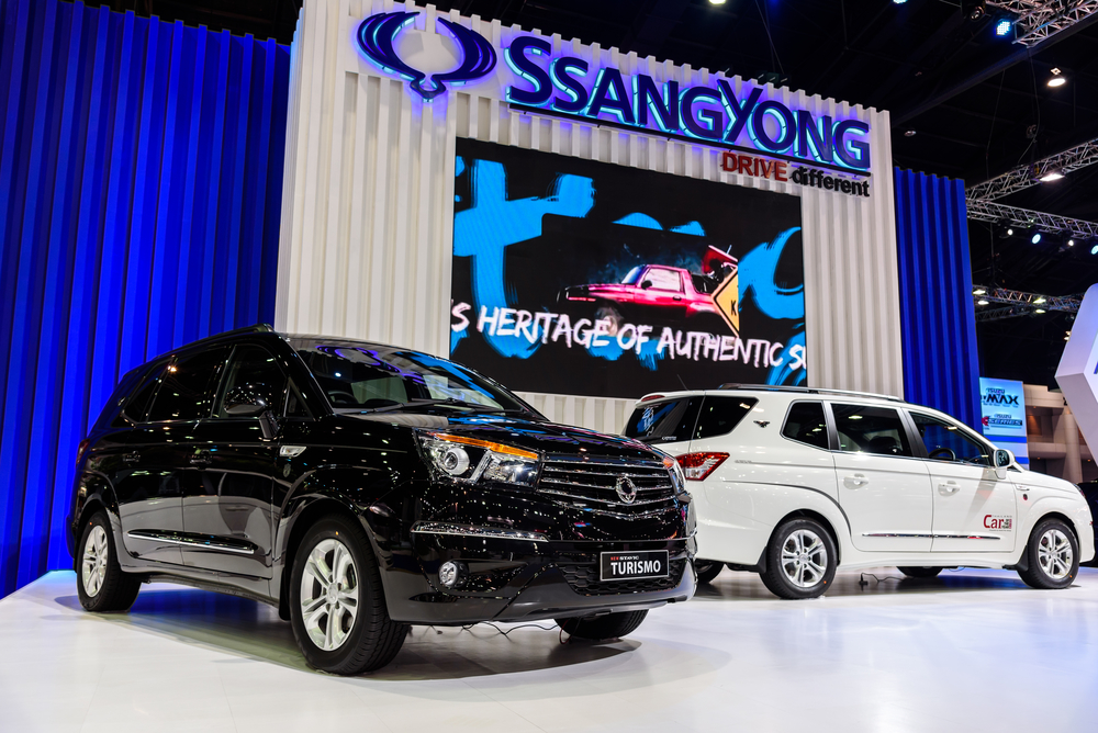 SsangYong Turismo on display at The 37th Bangkok International Motor Show : No  Boundaries Mobility on March 22, 2016 in Bangkok, Thailand.
