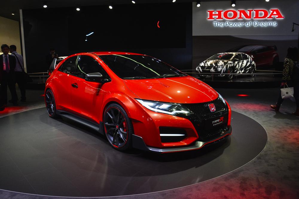 Honda Civic Type R concept car on display during the Geneva Motor Show ...