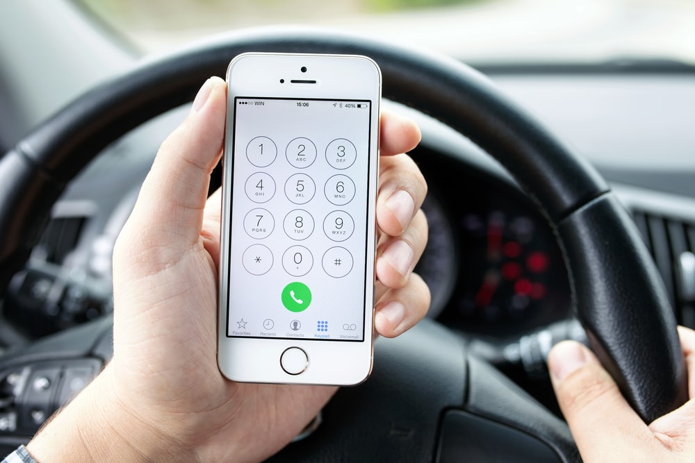 calling iphone in car