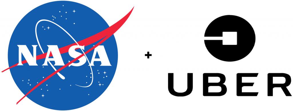 nasa and uber logos