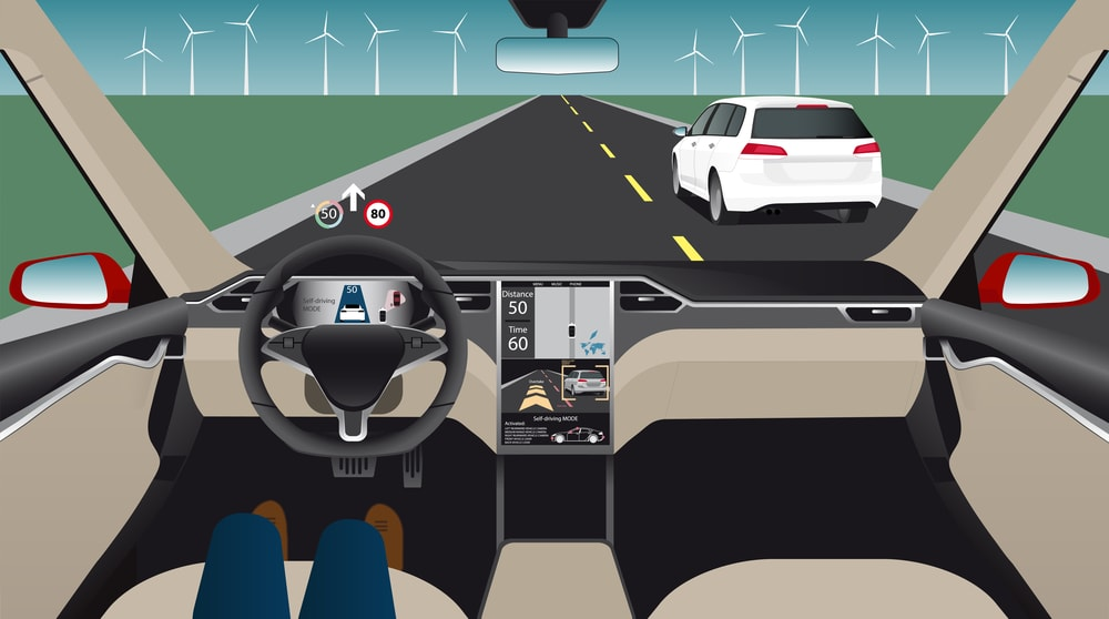 self driving car graphic