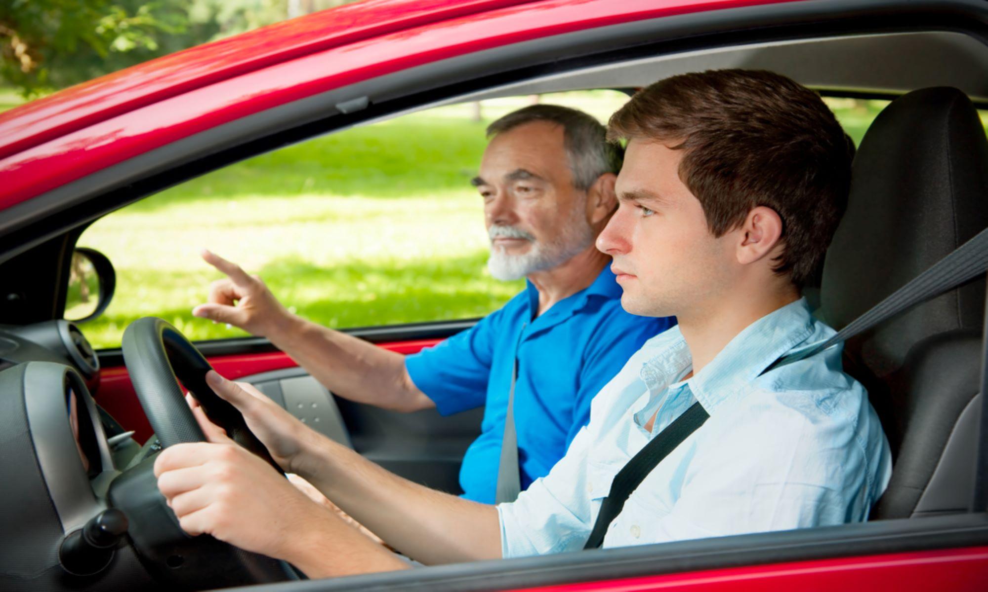 teen driver behind the wheel