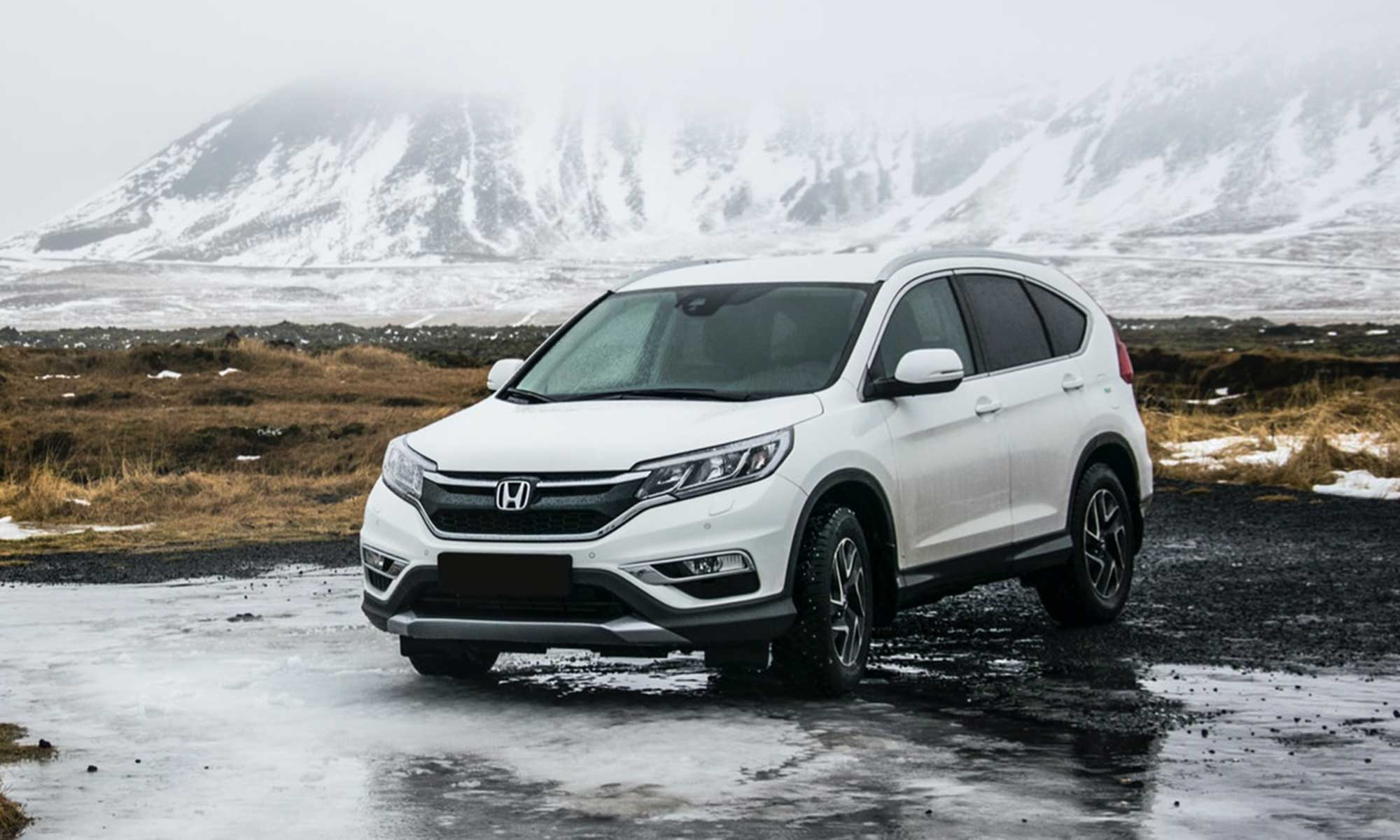 white Honda CRV guide