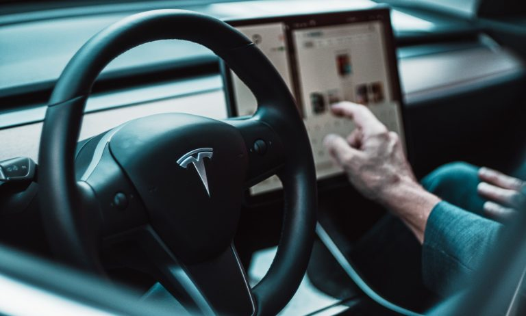 Tesla Model 3 driver seat