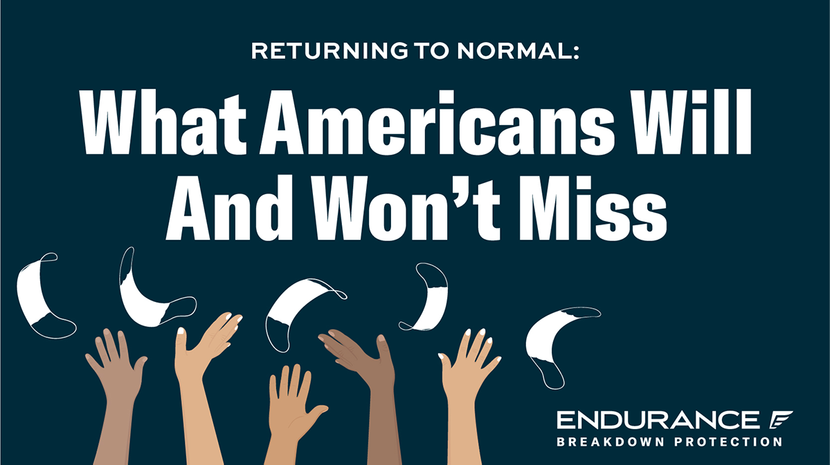 Survey title of Returning to Normal, What Americans Will and Won't Miss