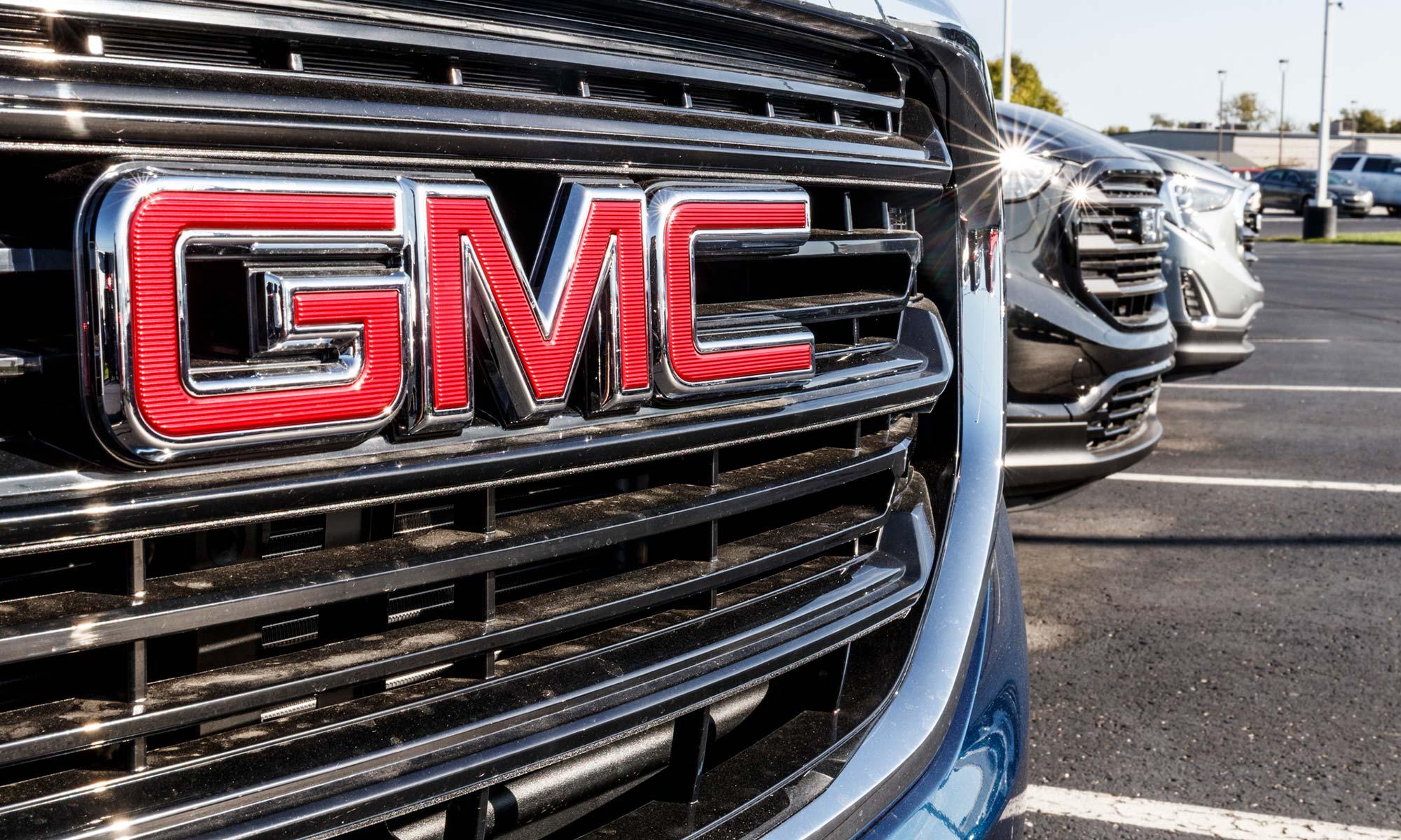 GMC vehicle grill.