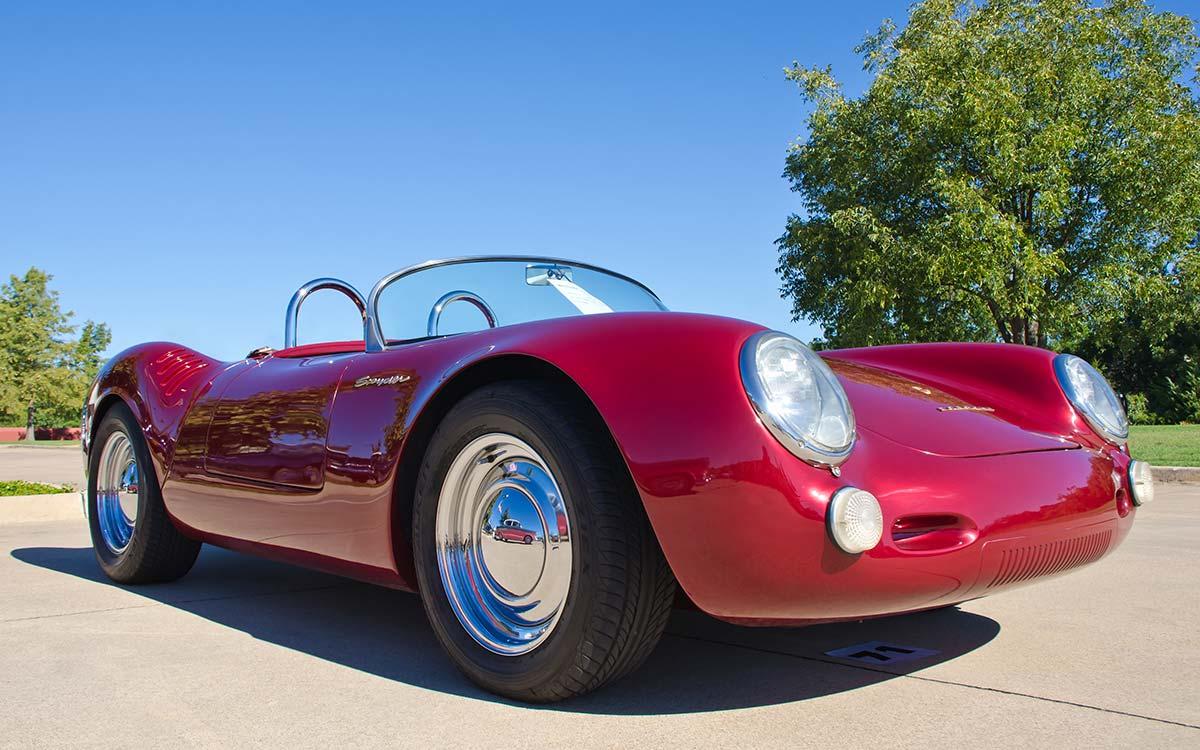 A red Porsche Spyder.